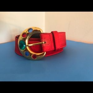 Vintage Escada jeweled belt.